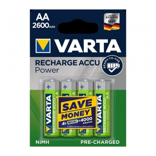 Аккумулятор VARTA RECHARGE ACCU Power HR6 NiMH 2600 mAh BL-4