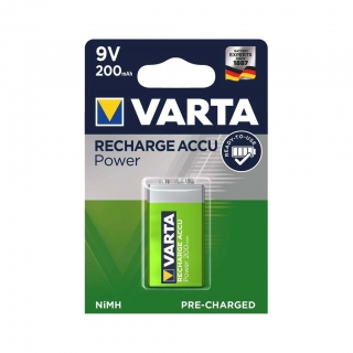 Аккумулятор VARTA RECHARGE ACCU Power 9V 200mAh BL-1