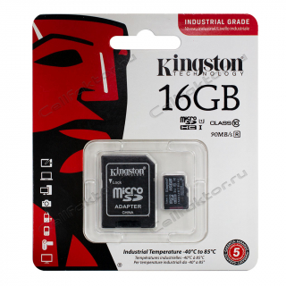 Карта памяти KINGSTON MicroSDHC INDUSTRIAL GRADE 16Gb Class 10