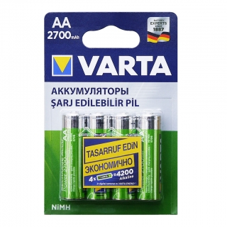 Аккумулятор VARTA RECHARGE ACCU Power HR6 NiMH 2700 mAh BL-4