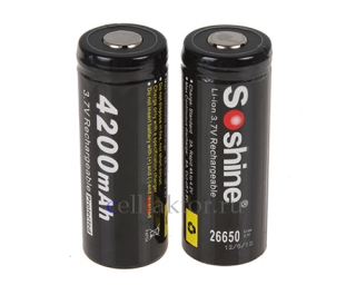 Аккумулятор Li-Ion SOSHINE 26650-PCM 4200mAh