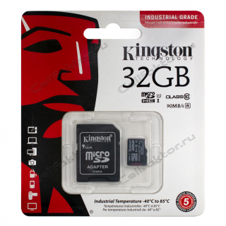 Карта памяти KINGSTON MicroSDHC INDUSTRIAL GRADE 32Gb Class 10