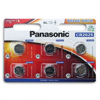 Батарейка PANASONIC Lithium Power CR2025 BL-6