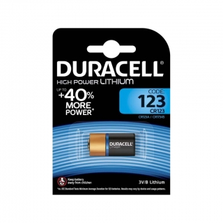 Батарейка для фото DURACELL High Power Lithium CR123A BL-1