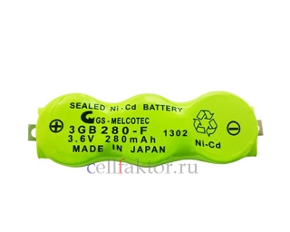 BATTERY 3.6V 280MAH NI-CD 3GB280-F