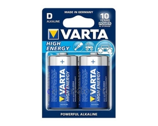 Батарейка алкалиновая VARTA Longlife Power 4920 LR20 BL-2