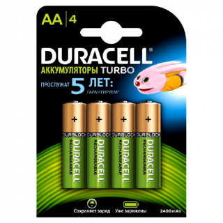 Аккумулятор NiMH DURACELL TURBO HR6 2500 мAч BL-4