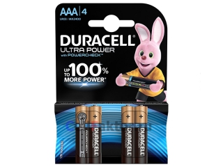 Батарейка алкалиновая DURACELL Ultra Power  LR03 BL-4