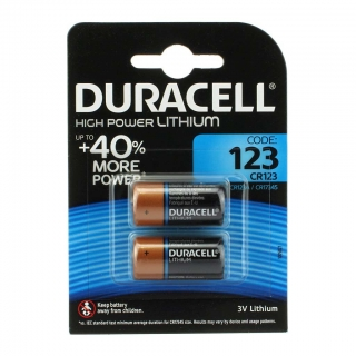 Батарейка для фото DURACELL High Power Lithium CR123A BL-2