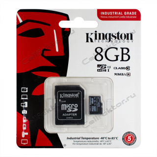 Карта памяти KINGSTON MicroSDHC INDUSTRIAL GRADE 8Gb Class 10
