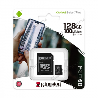 Карта памяти KINGSTON MicroSDXC 128Gb Canvas Select Plus Class 10