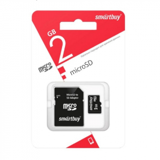 Карта памяти SMART BUY MicroSD 2Gb SD adapter