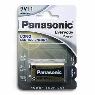 Батарейка алкалиновая PANASONIC Everyday Power 6LR61 BL-1