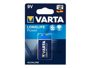 Батарейка алкалиновая VARTA Longlife Power 4922 6LR61 BL-1