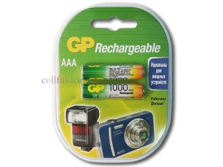 Аккумулятор GP 100AAAHC-2CR2 AAA/HR03 1000mAh BL-2