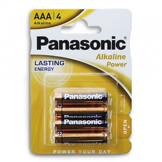 Батарейка алкалиновая PANASONIC Alkaline Power LR03 BL-4