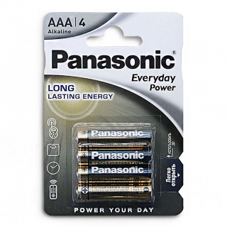 Батарейка алкалиновая PANASONIC Everyday Power  LR03 BL-4