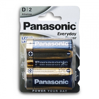 Батарейка алкалиновая PANASONIC Everyday Power LR20 BL-2